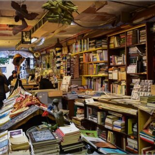 Если появились новые записи - значит были выходные ) Была пара дней разгрузить голову от хранящейся в ней длительно время информации). ⠀ Книжный в Венеции. Libreria Acqua Alta. Заходите посмотреть на открытки и котика ) Ссылка в шапке профиля. ⠀ #nptravelnotes #travelawesome #venezia #libreriaacquaalta #igersvenezia #igersveneto #bookshop #travelblogger